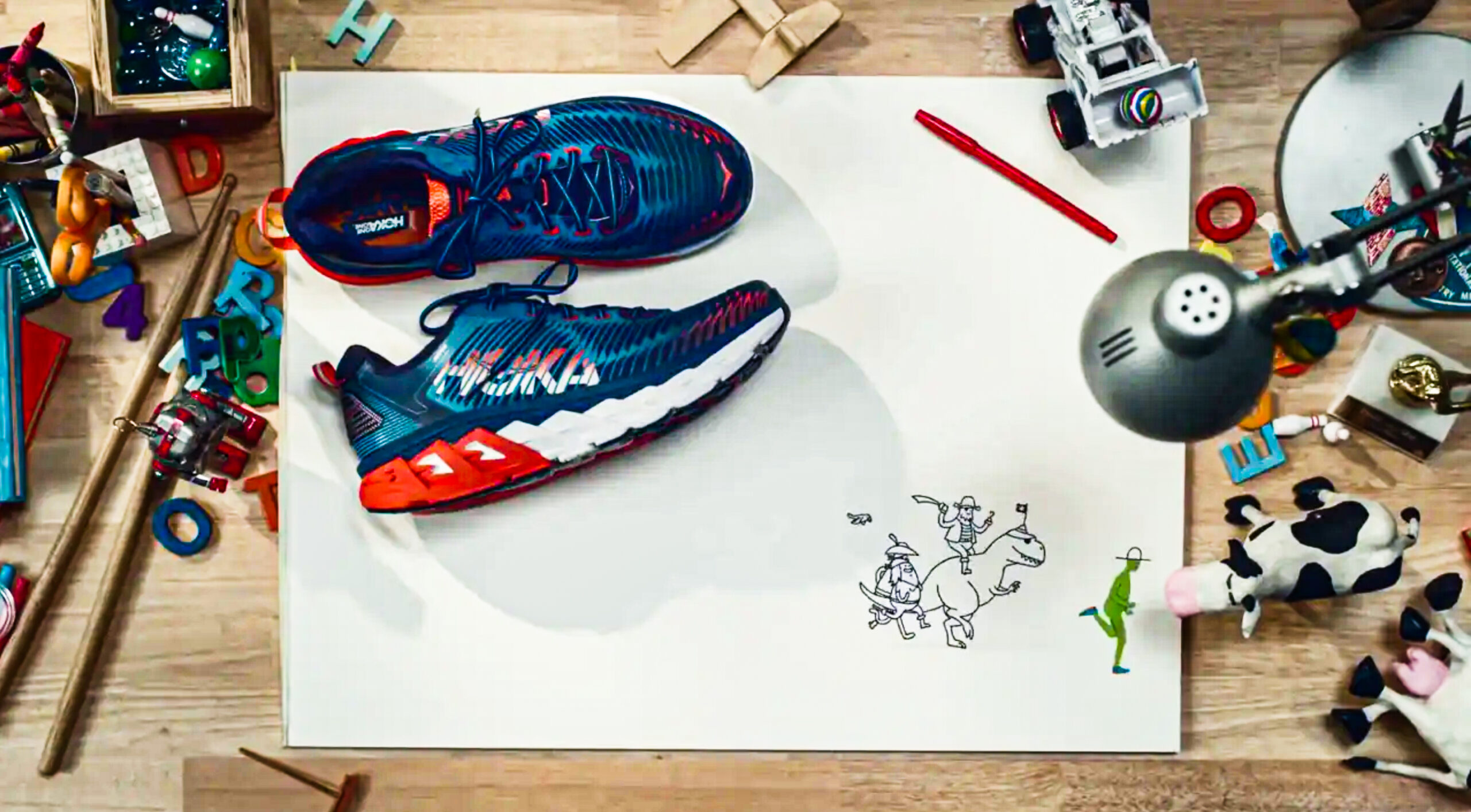 From keys to cows, stylist Jeanette Moncada gathers props for a sneaker commercial. Photograph by Tyler McPherron.