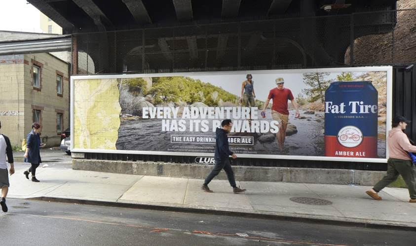 Billboard for Andrew Maguire's Fat Tire campaign for New Belgium Brewing.