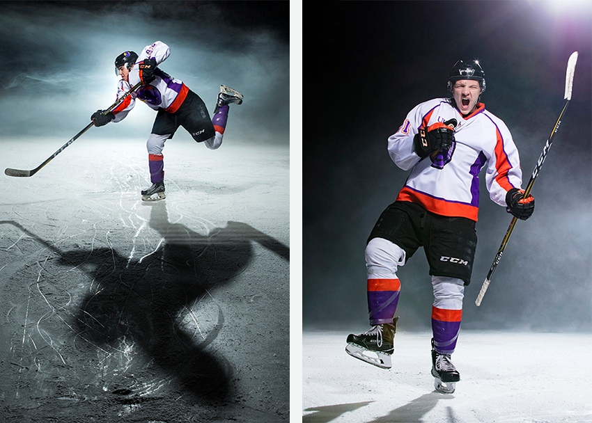 Action shots and portraits of Phantoms ice hockey players by Scott Galvin
