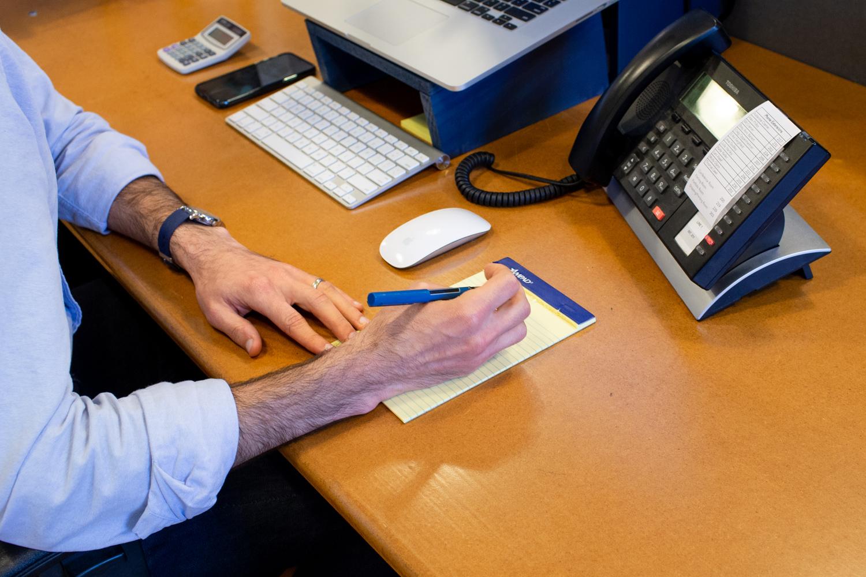 Wonderful Machine Executive Producer Craig Oppenheimer taking notes