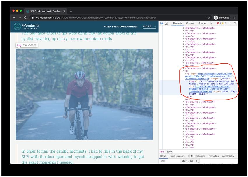 Screenshot of the developer's view of Wonderful Machine's blog