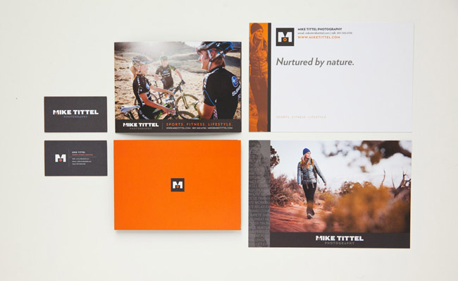 Mike Tittel's business cards, leave behinds and print mailers.