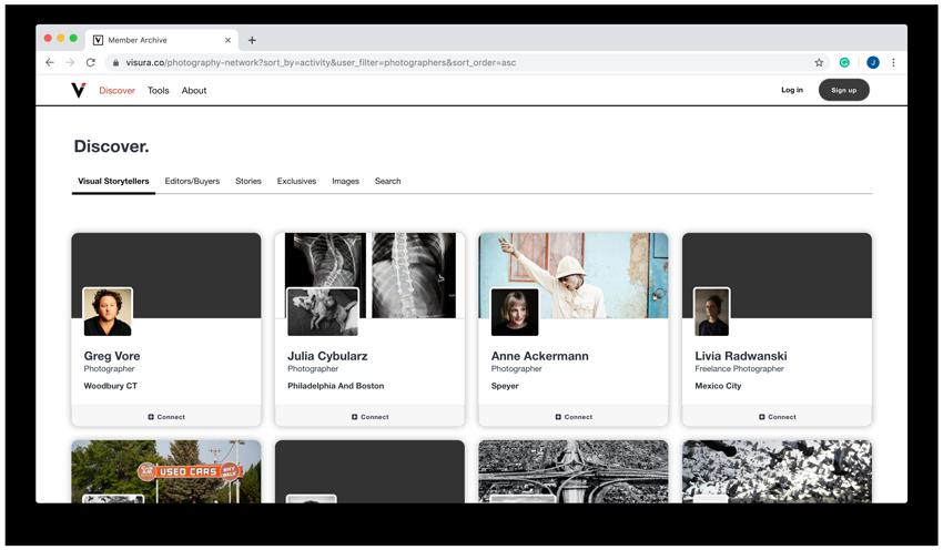 visura website screenshot