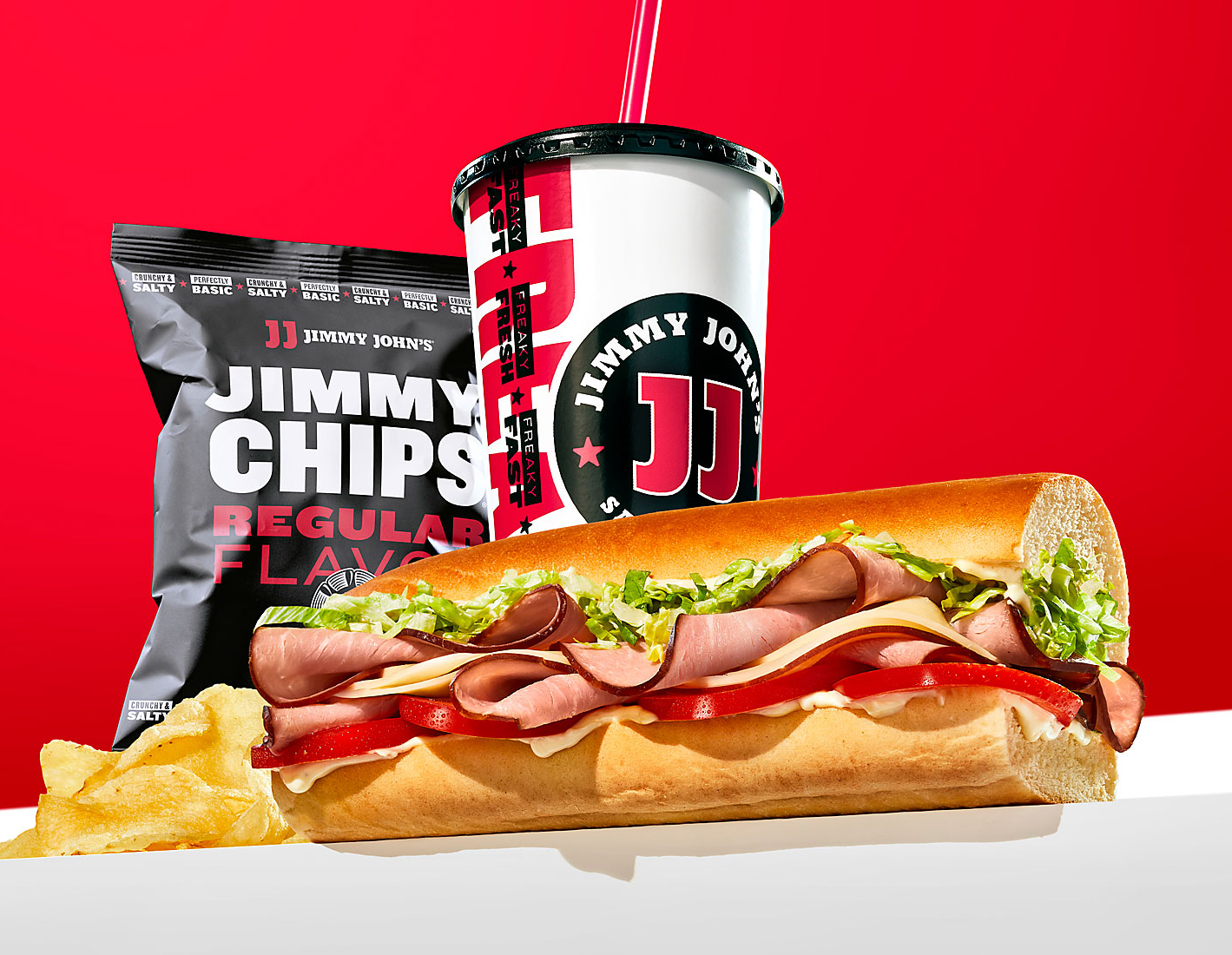 Jimmy Johns ad of combo meal food photography by Teri Campbell, food photography, commercial food photography, food magazine photography, editorial food photography, phoode, advertising food photography, lifestyle food photography, commercial food photographer, commercial beverage photographer, commercial drink photographer, phoode