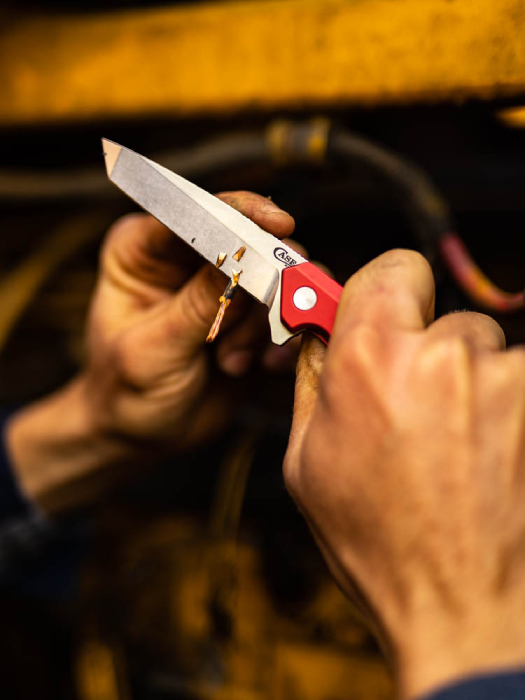 Knife sharpening wood shot by Ed Sozhino for Case Knives