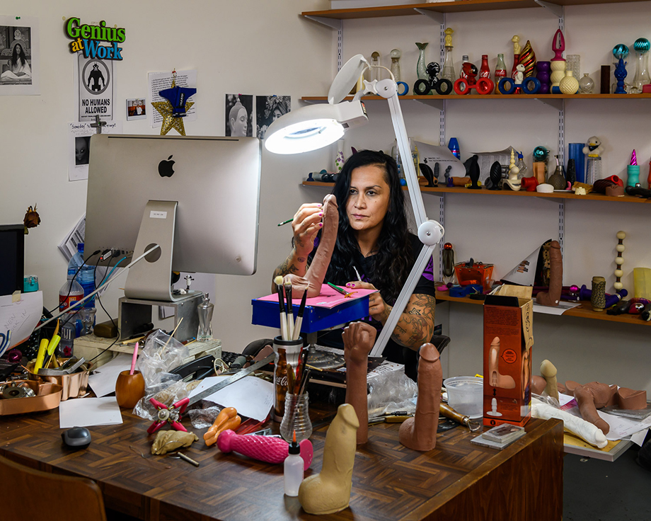 Anjani Hunaman, the Colombian artist that has sculpted the Doc Johnson sex toys for 20 years photography by Alastair Philip Wiper