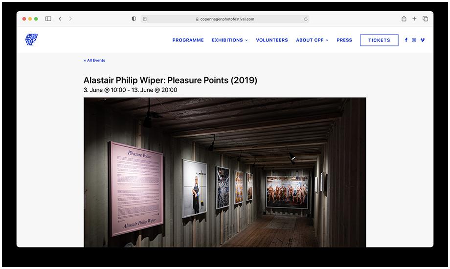 Screenshot of Alastair Philip Wiper's work on Copenhagen Photo Festival event page