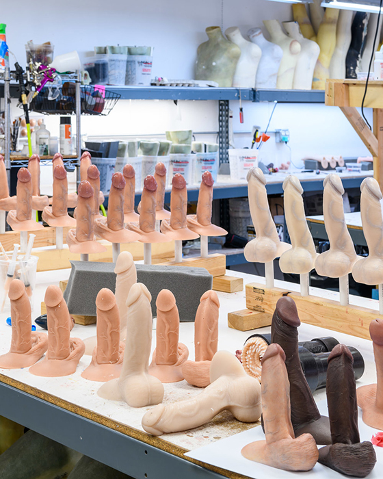 Ultra realistic penises being produced at the RealCock workshop. Photos by Alastair Philip Wiper.