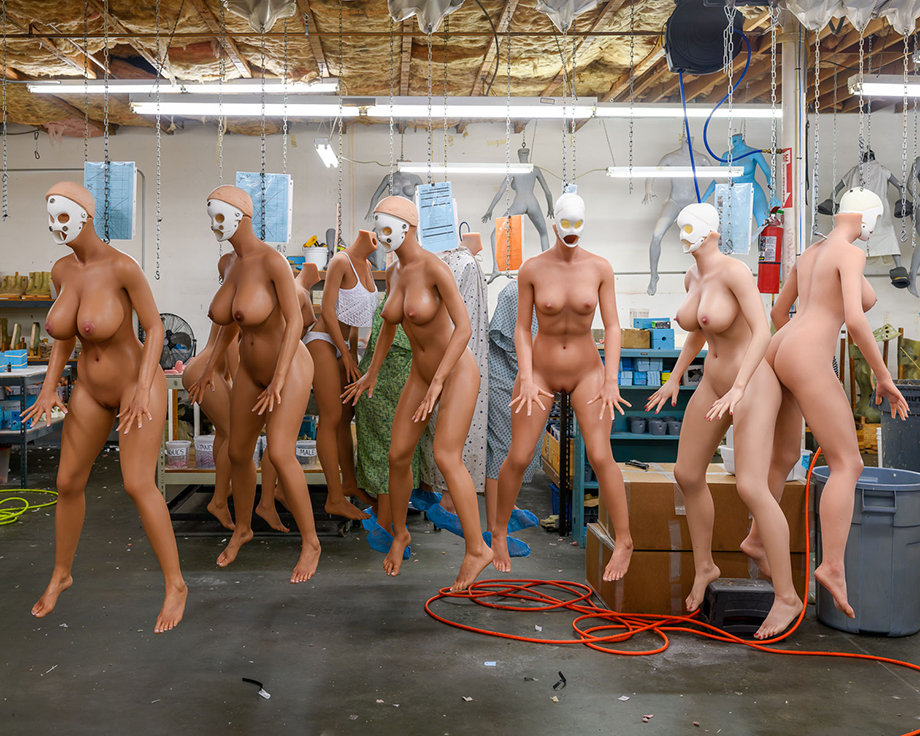 The RealDoll workshop, where 20-30 fully customizable sex dolls are made by hand photographed by Alastair Philip Wiper