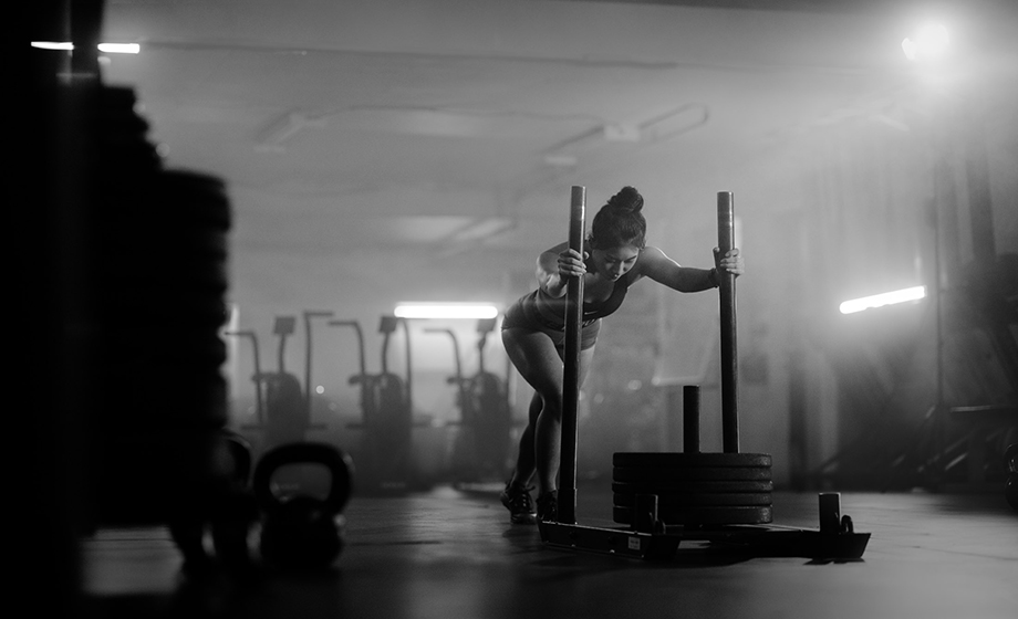 Carrie Xu works out at a Cross Fit Gym in Vancouver.