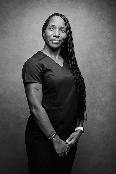 Nurse Akeya Jones photographed by Angelo Merendino.