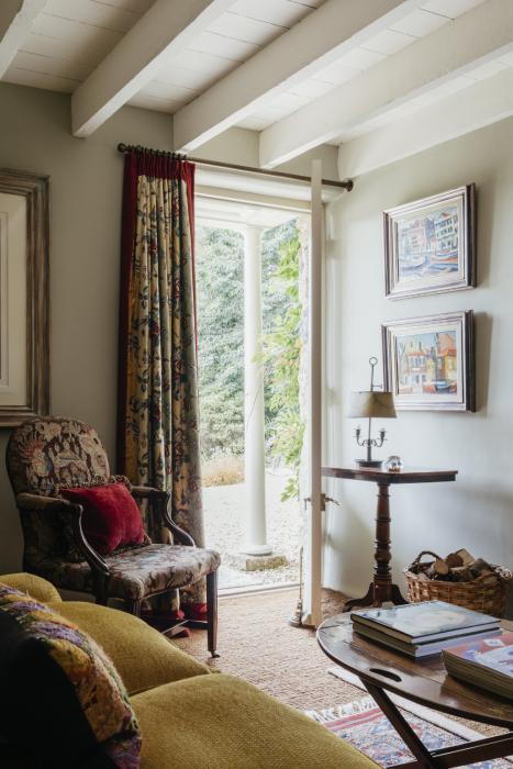 Interior shot of open door at Robert Carslaw's Cornwall home shot by Anya Rice for Home & Garden magazine