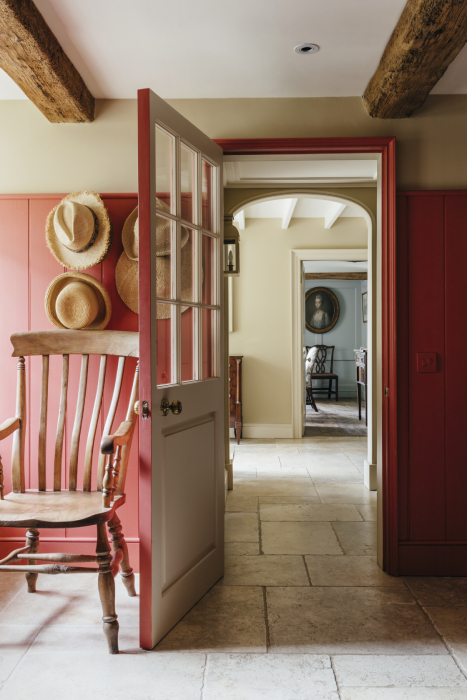 Interior shot of open door way to other rooms in Robert Carslaw's Cornwall home shot by Anya Rice for Home & Garden magazine
