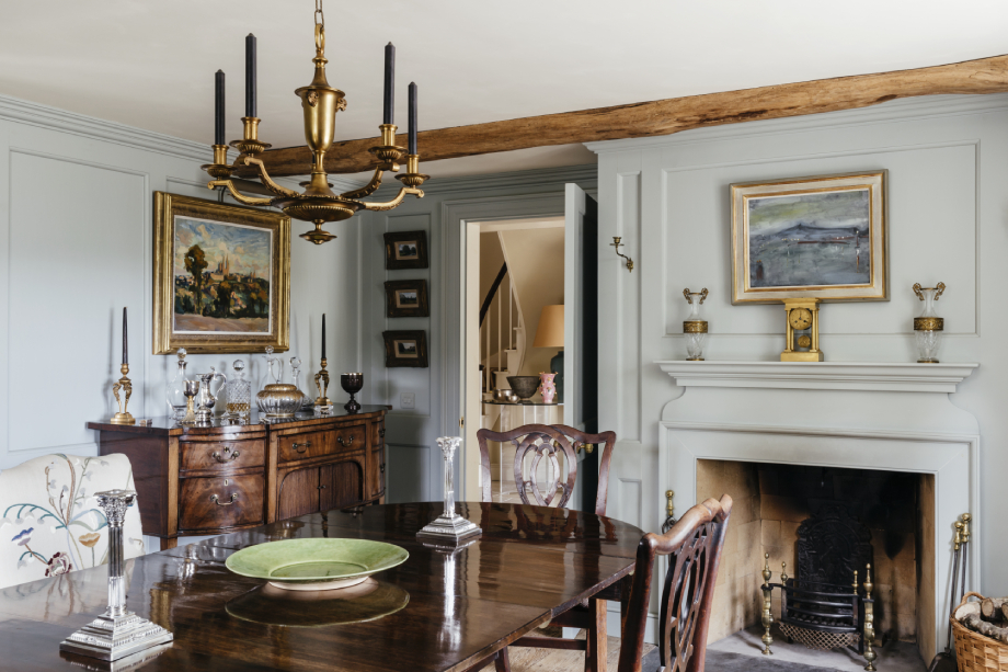 Interior shot of dining room in Robert Carslaws Cornwall home shot by Anya Rice for Home & Garden magazine