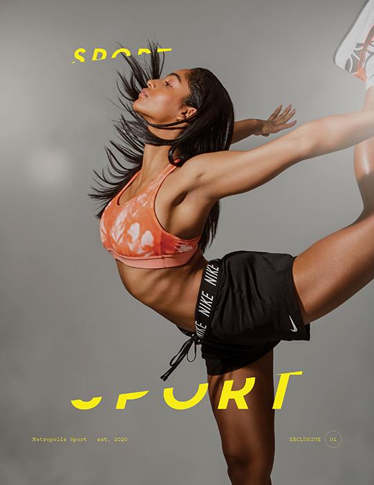 Nastasya Generalova on the cover of Metropolis Sport. Photographed by Aydin Arjomand.