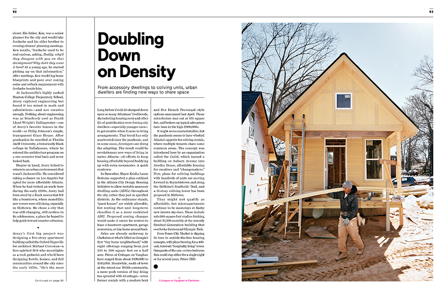 A look at real estate developments in Atlanta in the April 2021 issue of Atlanta Magazine photographed by Ben Rollins