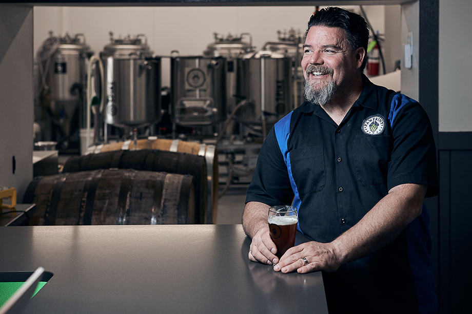 James K., a brewer from Paw Print Brewery.  Photographed by CJ Foeckler for Spike Brewing.