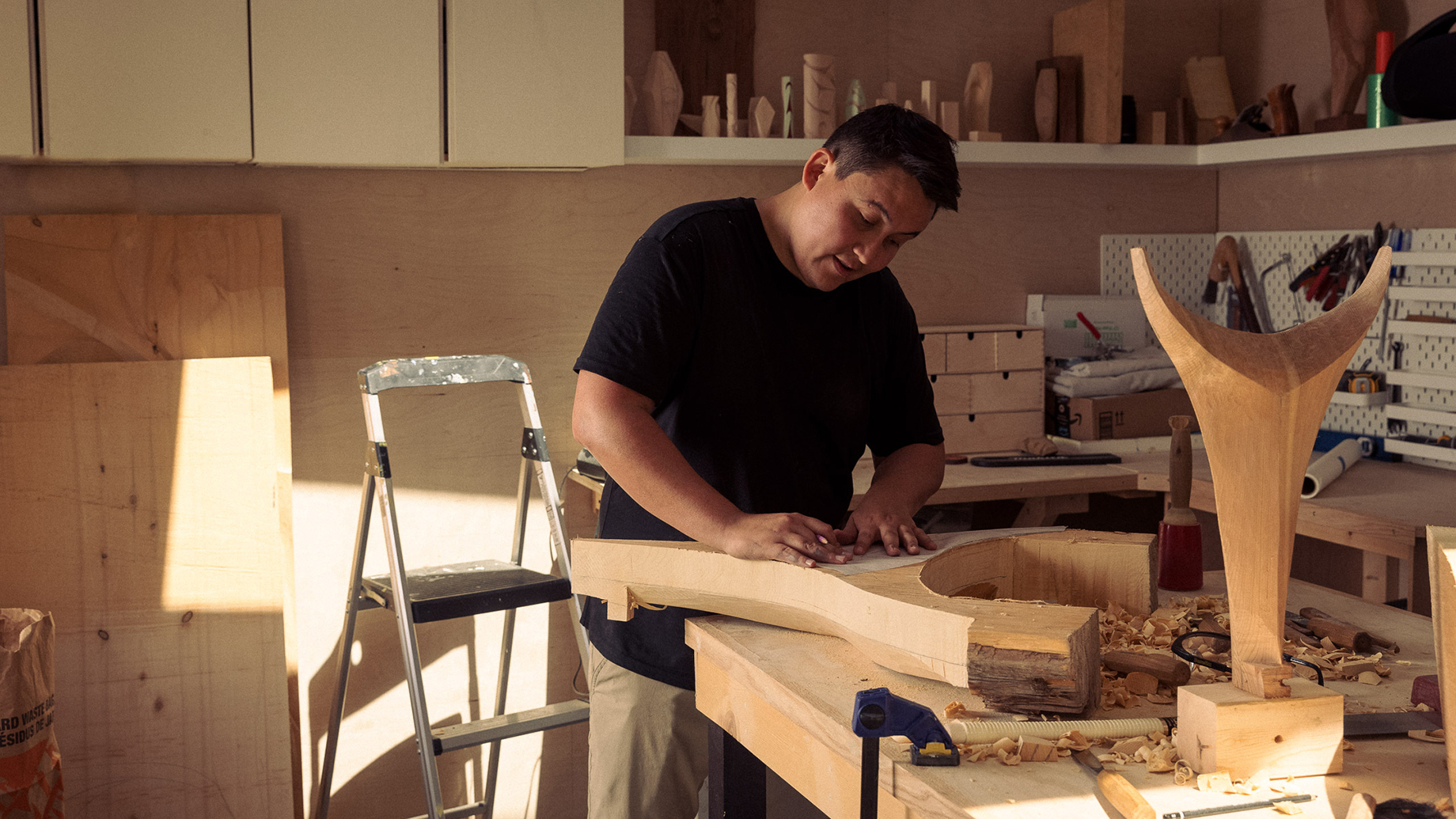 Woodworker captured by Christian Tisdale for Makers series