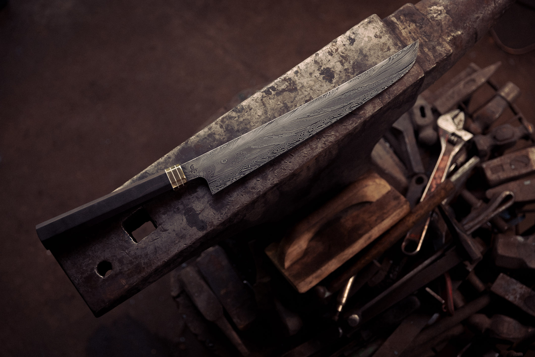 Hand forged knife shot by Christian Tisdale for Makers series