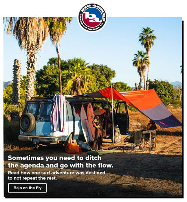 Dalton's photography featured on the Big Agnes blog.