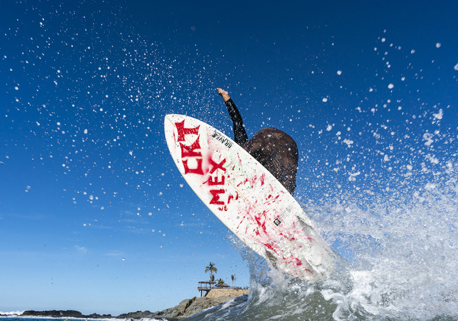 Surfing Cerritos Beach in Baja California, Mexico. Photography by Dalton Johnson.
