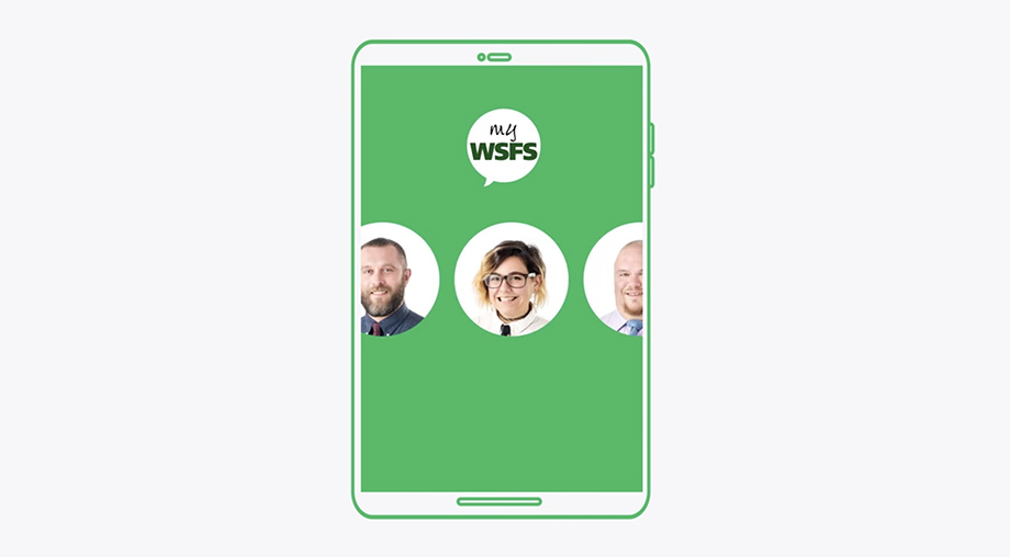WSFS Banking App, as shown on video.