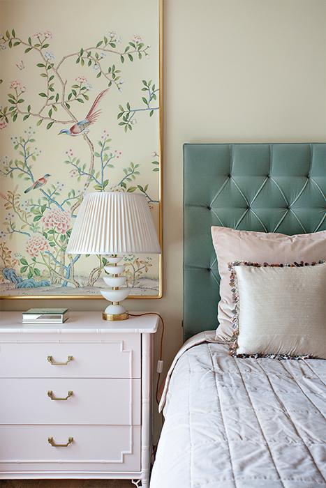 Denice Houghs close up of bedroom vignette.