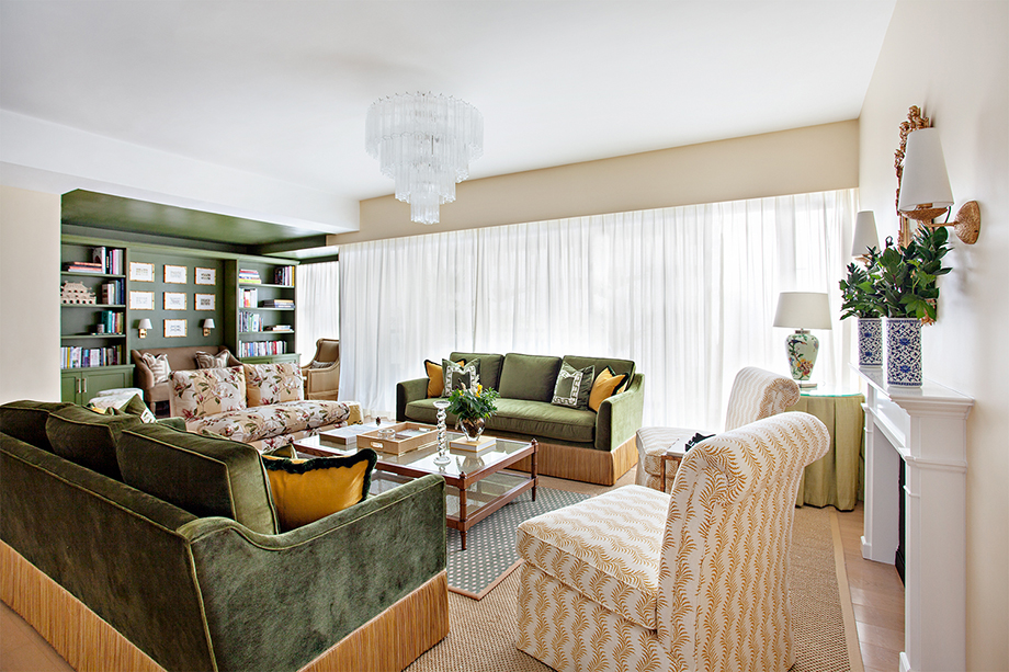 Denice Hough photographs A wide shot of the living room.