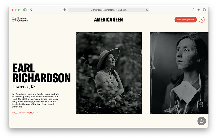 Earl Richardson's photos on the Emerson Collective website.