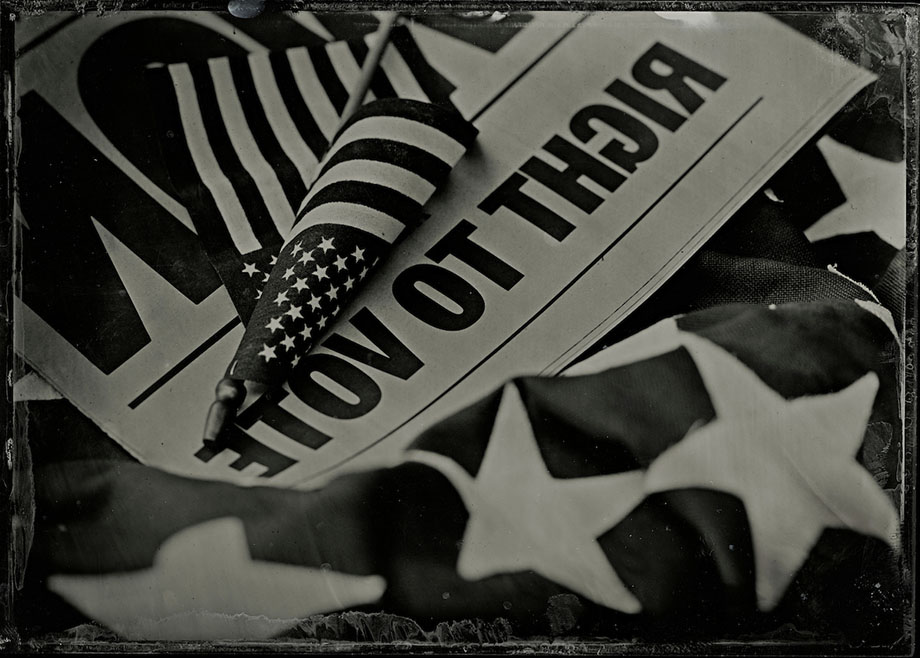 Much of our discussions at home the past 7 months have been about politics and the upcoming election.  Wet plate collodion image by Earl RIchardson.