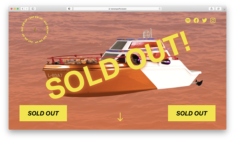 Little yatch sold out on the website.