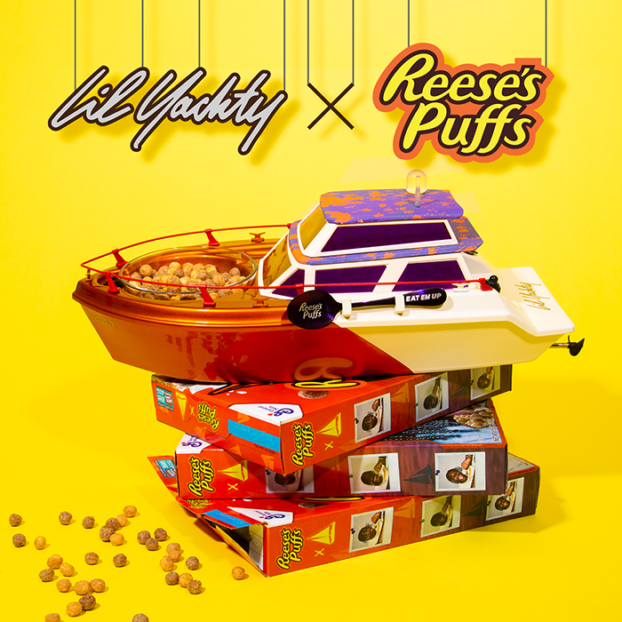 Lil Yatchy and Reese's Puffs yatch photographed by Emily Malan.