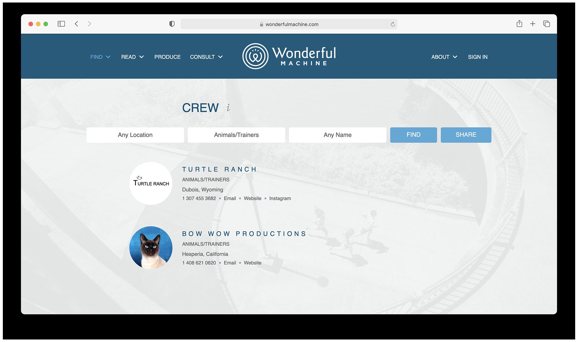 Find Animal Crew on Wonderful Machine
