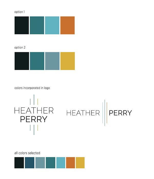 Lindsay Thompson's final logo design for Heather Perry's branding overhaul