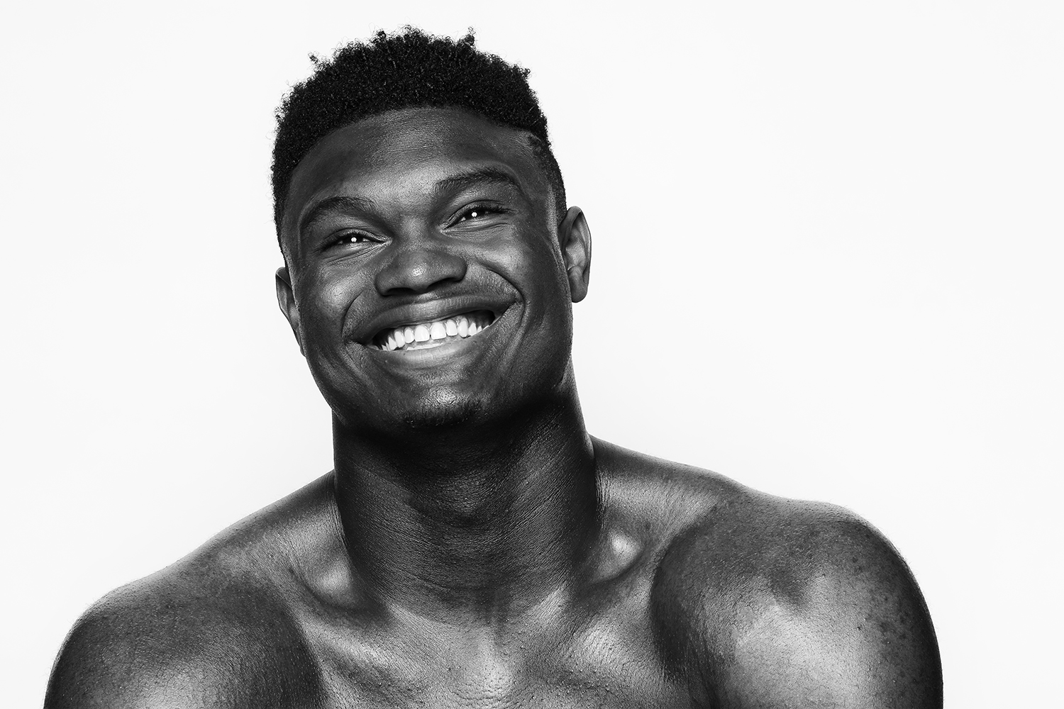 Ian Curcio photographs grinning NBA star Zion Williamson back in high school
