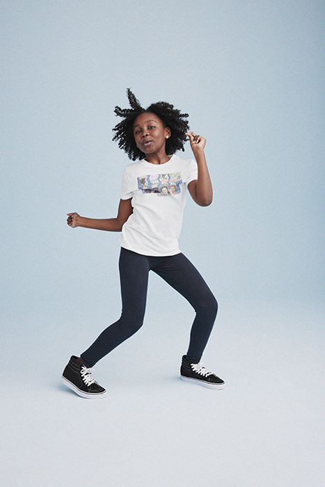 Girl dancing. Photographed by Janelle Bendycki for Abercrombie Kids.