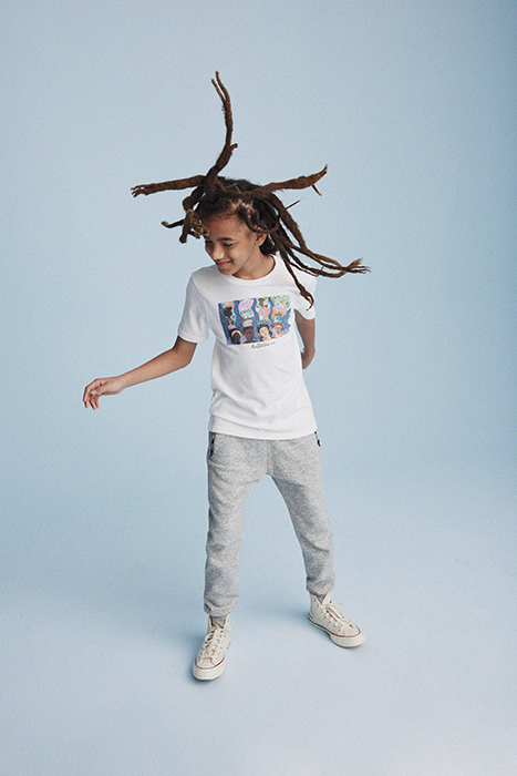 Kid dancing. Photographed by Janelle Bendycki for Abercrombie Kids.