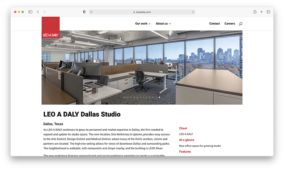 A look at Leo A Daly's website.