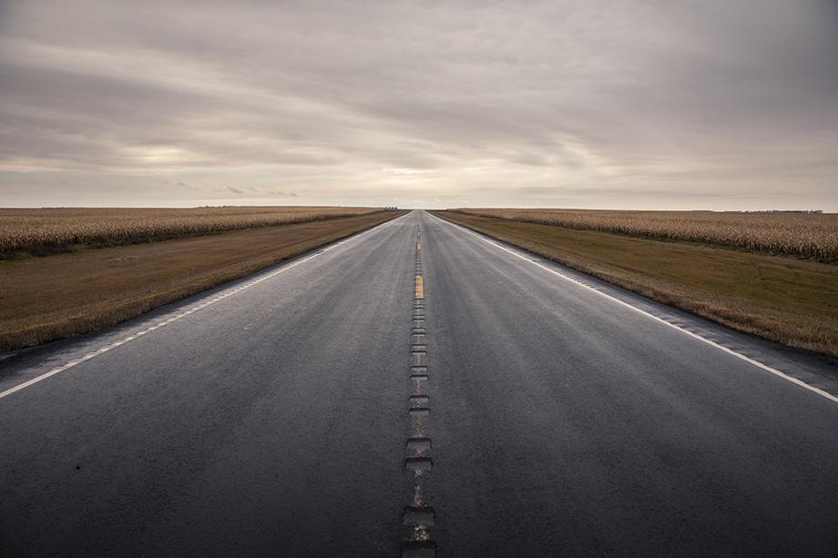 A road in North Dakota. Photography by Jason Elias.