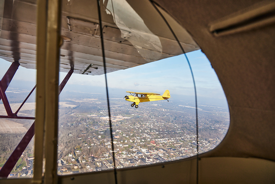 A look at the sky from one of the planes. Photography by Jeremy Kramer.