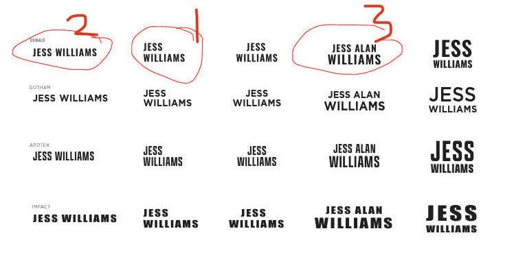 Jess' favorites after Lindsay's second round of Wordmarks
