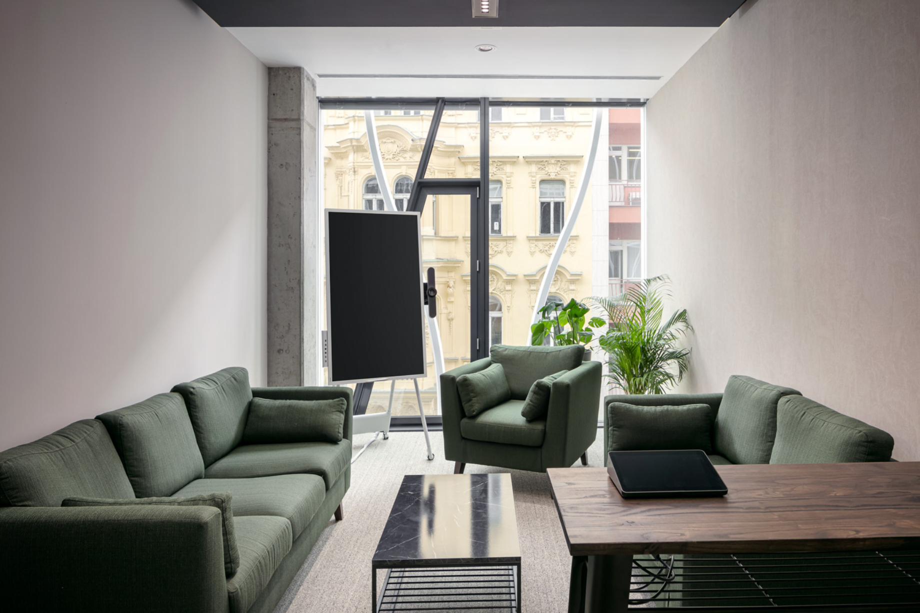 Interior of a private office at The Flow shot by Jiri Lizler for Scott Weber