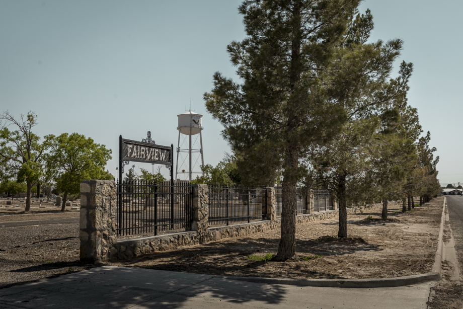 Fairview Cemetery shot by John Davidson for Texas Monthly Pecos Jane article