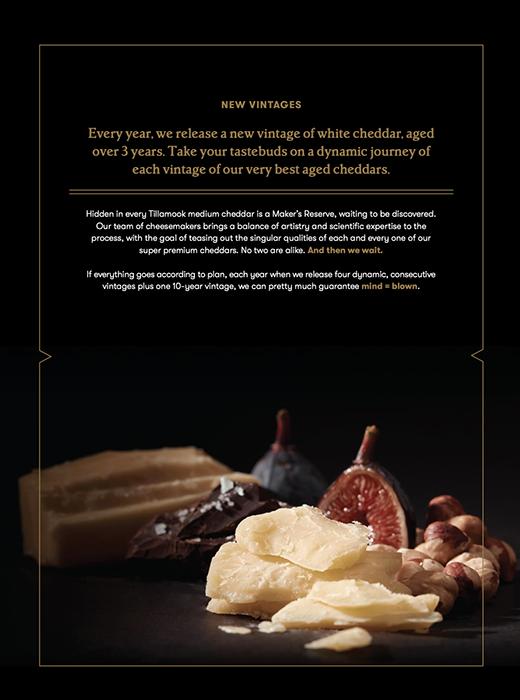 Tillamook brochure. Photographed by John Valls for Tillamook Creamery.