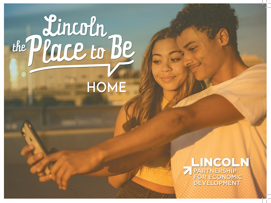 An ad for Lincoln Nebraska featuring Kathy's photography.
