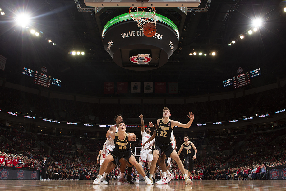 Ohio State plays Purdue at the Schottenstein Center on Saturday, January 23, 2019 in Columbus, Ohio. Photography by Kirk Irwin.