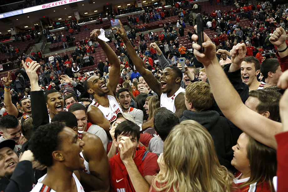 Ohio State plays Michigan State at the Schottenstein Center on January 7, 2018 in Columbus, Ohio. Ohio State defeated Michigan State 80-64. Photography by Kirk Irwin.