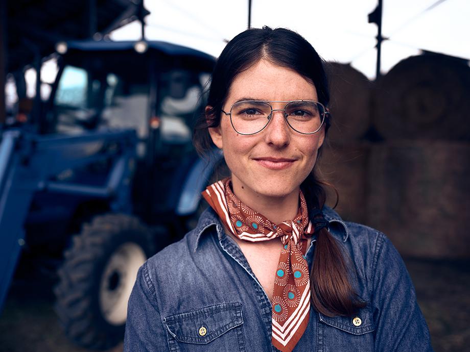 Portrait of first generation rancher Amy O'Hoyt. Photography by Kody Kohlman