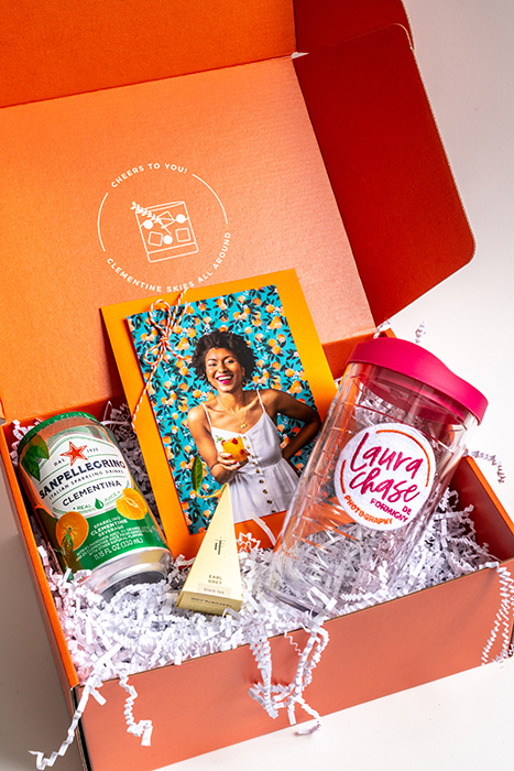 Interior of Laura Chase Laura Chase de Formigny's creative mailer. Designed by Nicole Yang. Photographed by Laura Chase de Formigny.