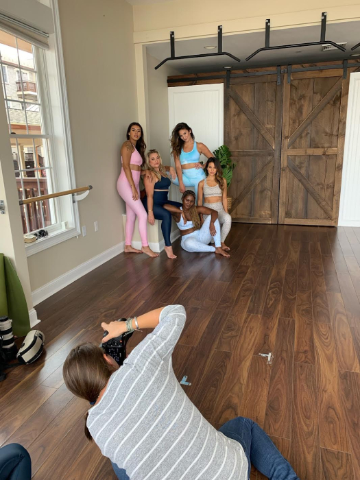 Behind the scenes at Be Well Studios shot by Lucie Wicker for Bold Body